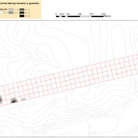 Heat map of prehistoric ceramics distribution